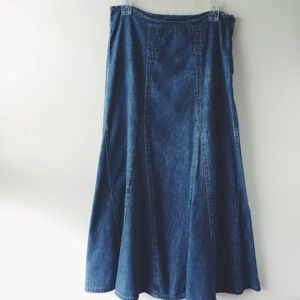 SONOMA Modest Maxi Long Jean Denim Skirt 6